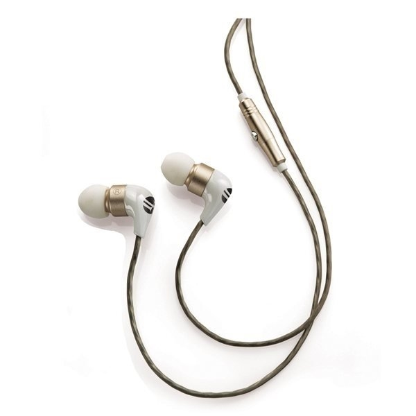 Promotional Brookstone(R) Ceramic Earbuds - White / Gold