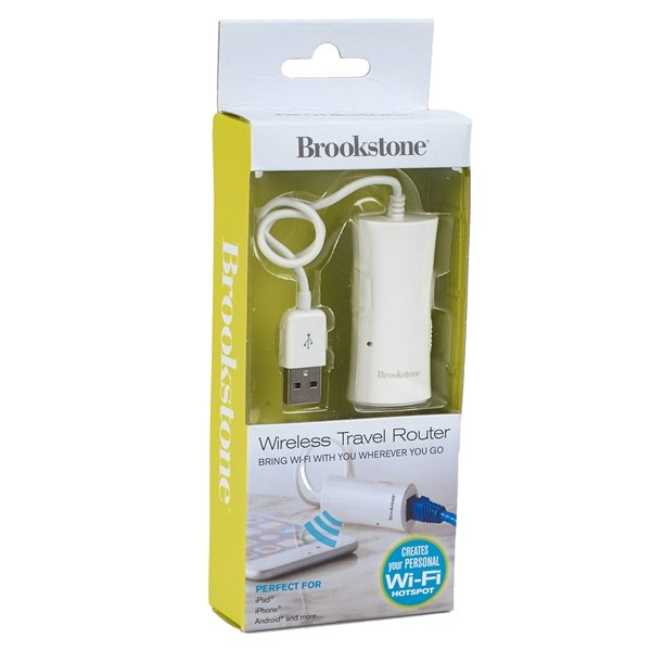Promotional Brookstone(R) Wireless Travel Router - White
