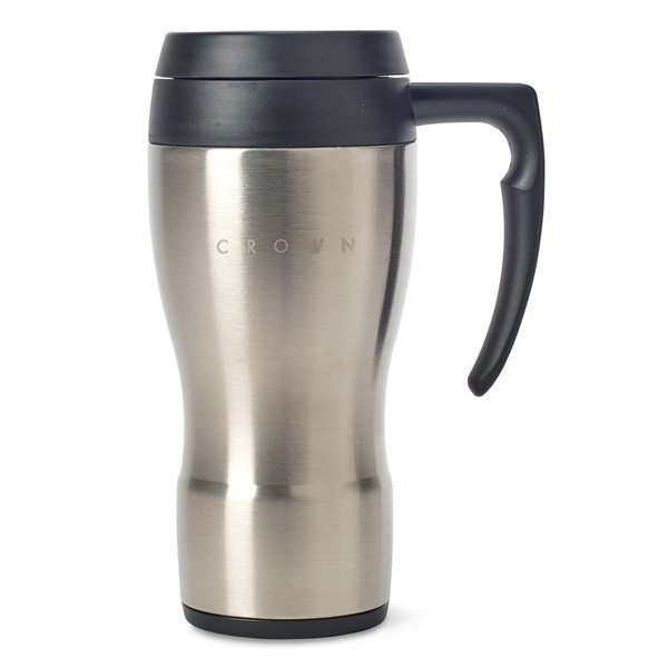 Promotional Thermocafe(TM) By Thermos Stainless Steel Travel Mug - 16 oz - Stainless Steel