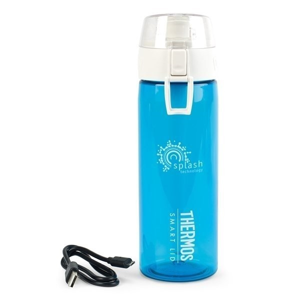 Promotional Thermos(R) Connected Hydration Bottle with Smart Lid - 24 oz - Turquoise