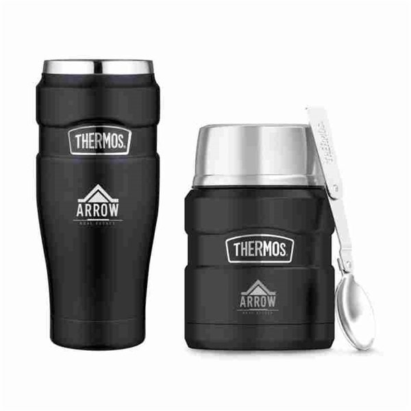 Promotional Thermos(R) Stainless King(TM) Travel Gift Set - Matte Black