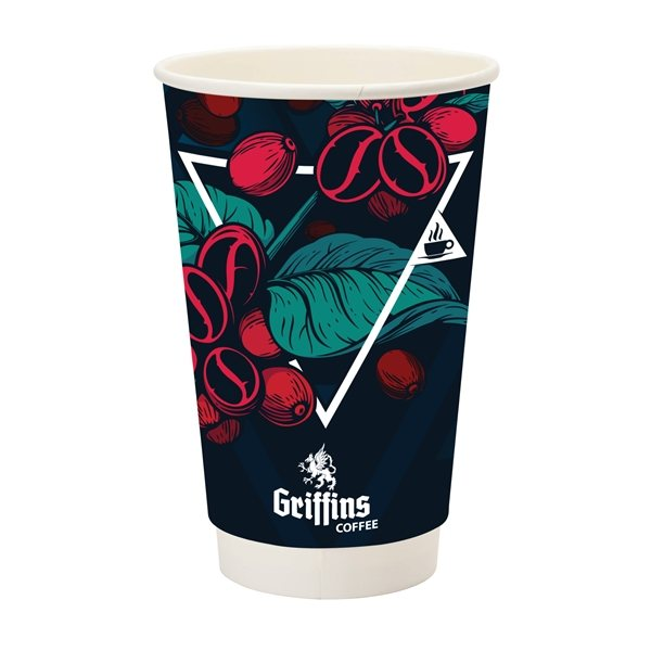 Promotional Prka(R) 16 oz Double Wall Paper Coffee Cup