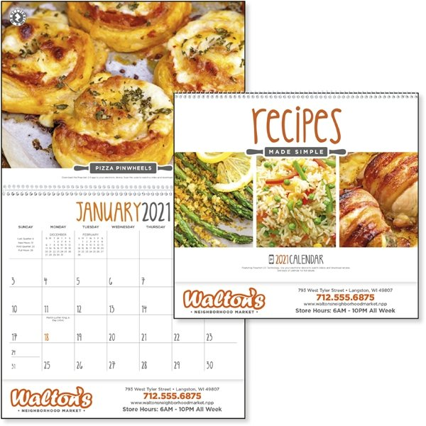 Promotional Recipes Made Simple - Triumph(R) Calendars