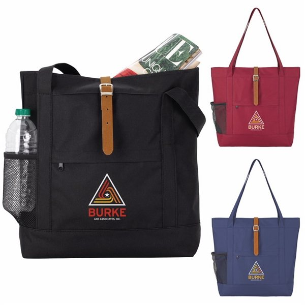 Promotional Simple Snap Polyester Tote