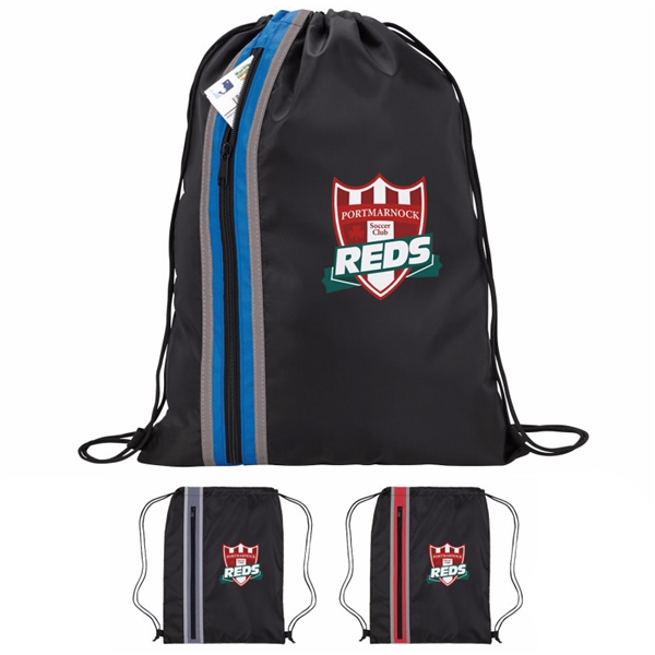 Promotional Vertical Zippered Drawstring Backpack