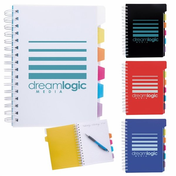 Promotional Spiral Notebook with Tabs