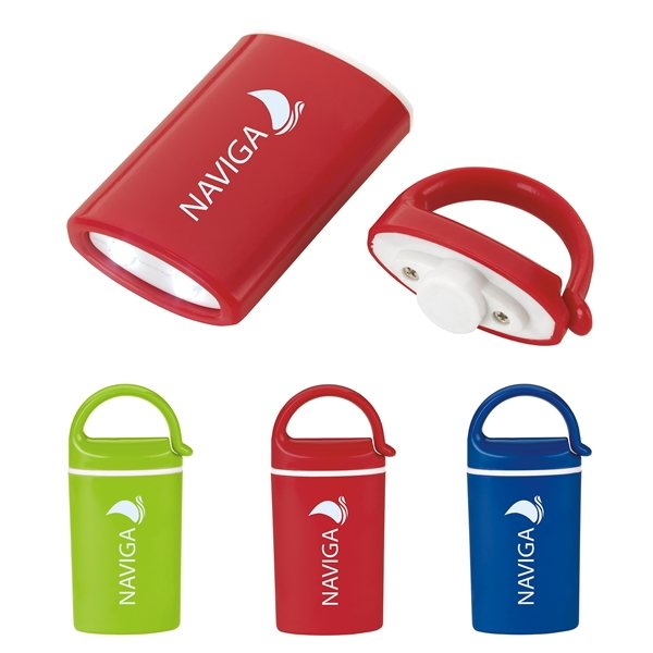 Promotional Mini Magnet Flashlight with Carabiner