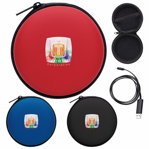 Promotional Dual Charging Cable with Tech Case