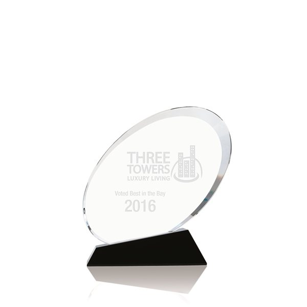 Promotional Ovate Optical Crystal Award - 5.5 x 5.6 x 2 in