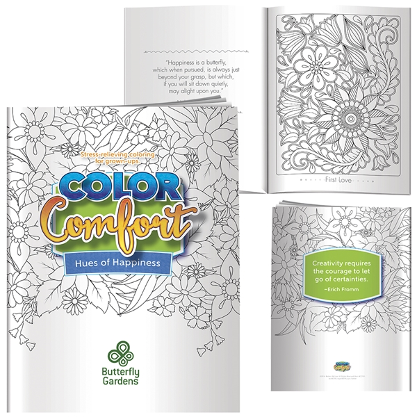 Promotional Adult Coloring Book - Hues of Happiness (Flowers)