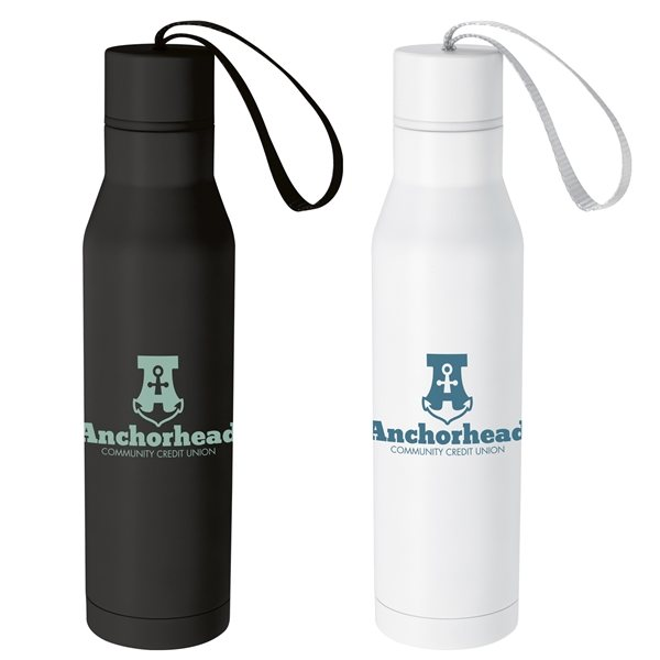 Promotional Vacuum Bottle with Carry Loop - 18 oz