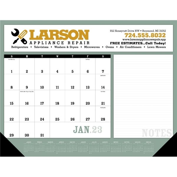 Promotional Notes Desk Pad with Vinyl Corners