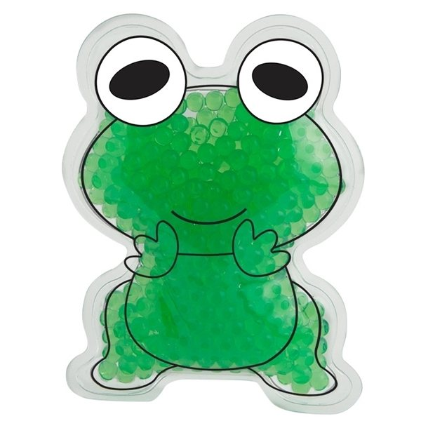 Promotional Gel Beads Hot / Cold Pack Frog