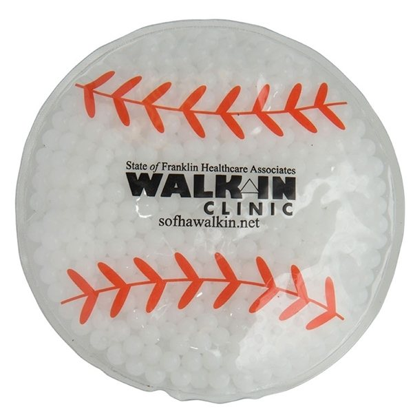 Promotional Gel Beads Hot / Cold Pack Baseball