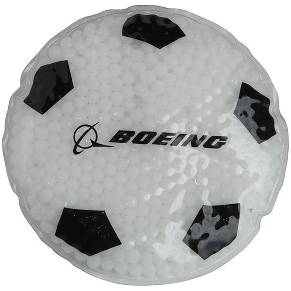 Promotional Gel Beads Hot / Cold Pack Soccer Ball