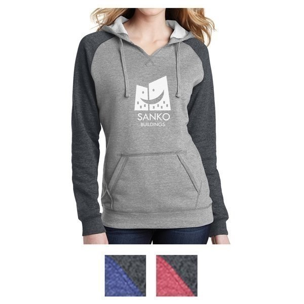 Promotional District(R) Juniors Lightweight Fleece Raglan Hoodie