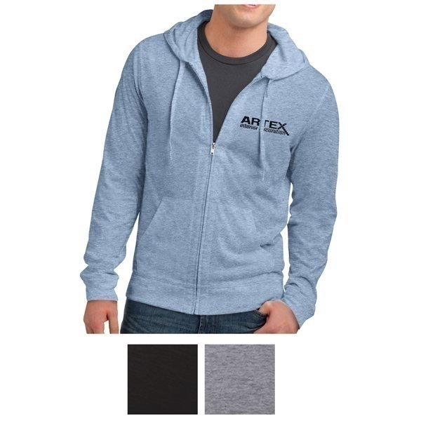 Promotional District(R) Young Mens Jersey Full - Zip Hoodie