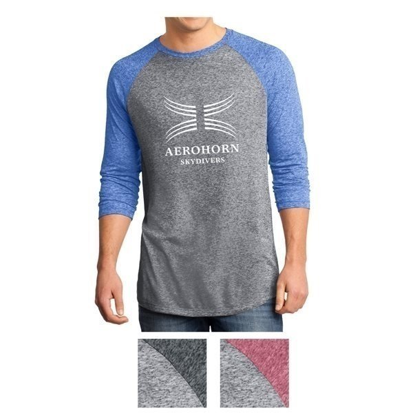 Promotional District(R) Young Mens Microburn(R) 3/4- Sleeve Raglan Tee