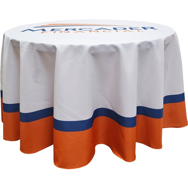 Promotional Full Color Round Table Covers for 3 Diameter Tables