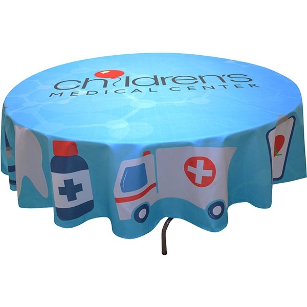 Promotional Full Color Round Table Covers for 5 Diameter Tables