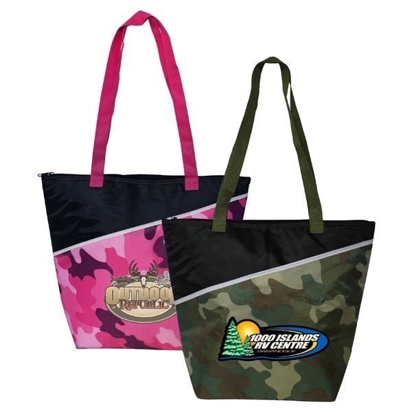 Promotional Camo Insulated Cooler Bag, Full Color Digital