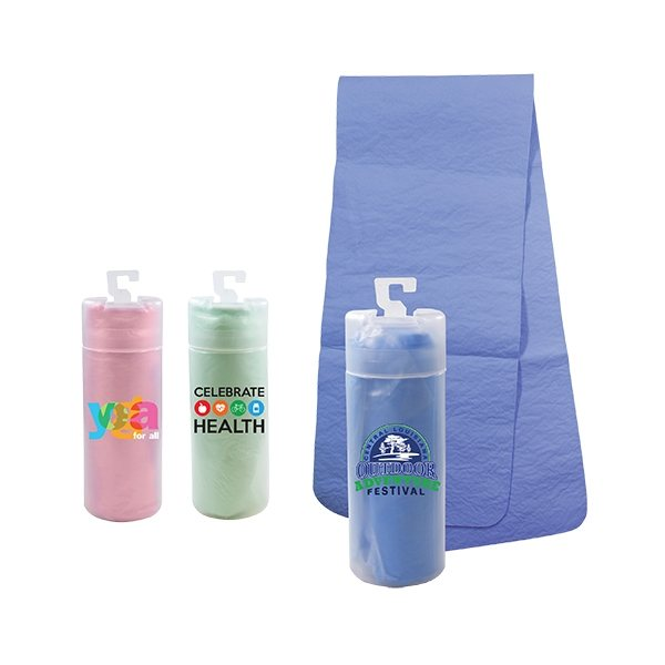 Promotional PVA Cooling Towel in a Tube, Full Color Digital