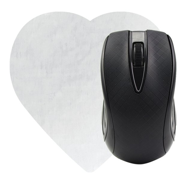 74cce245a7f Heart Shaped Computer Mouse Pad - Dye Sublimated - Promotional Mouse ...