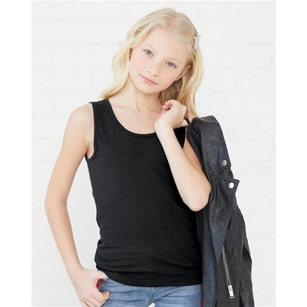 Promotional LAT - Girls Fine Jersey Tank Top - COLORS