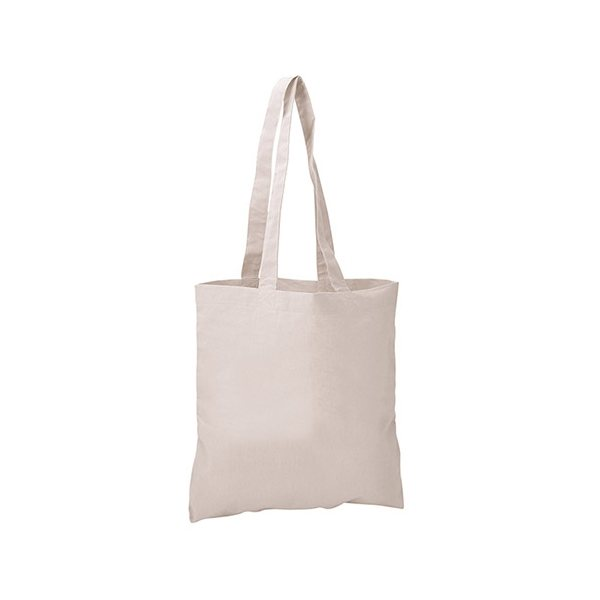 Promotional Cotton Sheeting Natural Economy Tote - 15-1/2 x 15