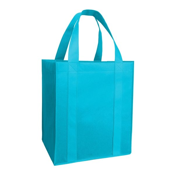 Promotional Mucho Grande Tote with Wipeable Plastic Bottom Insert