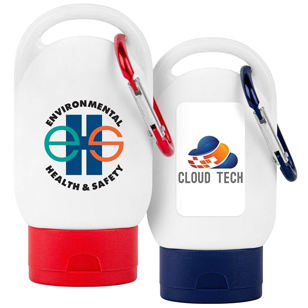 Promotional Sunscreen SPF 30 w / Carabiner