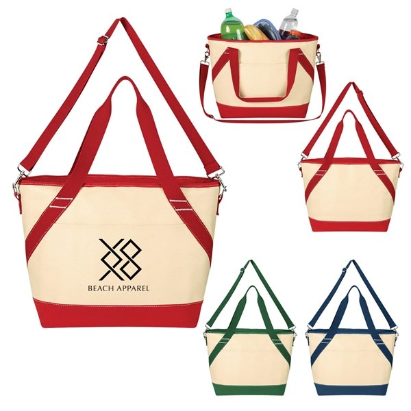 Promotional Canvas Cooler Tote Bag