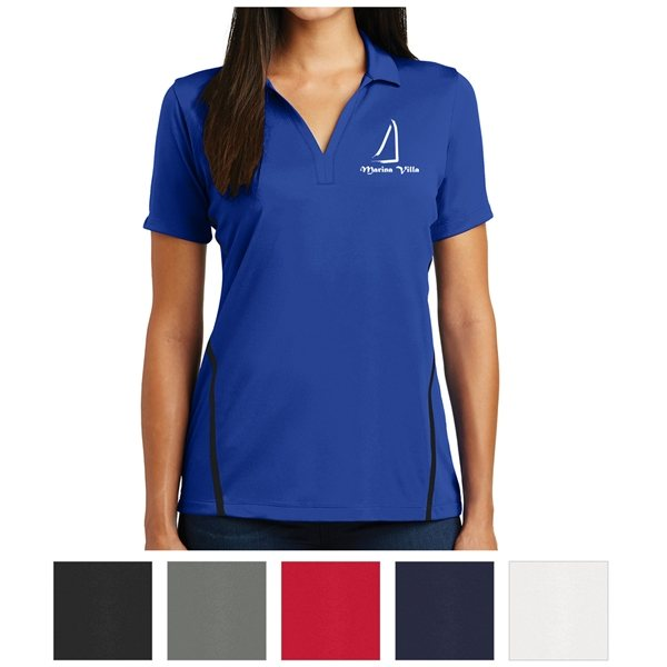 Promotional Sport - Tek(R) Ladies Contrast PosiCharge(R) Tough Polo(TM)