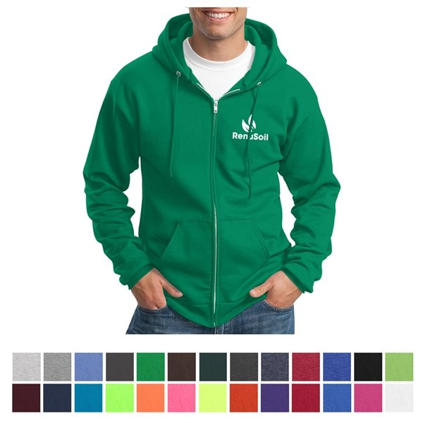 Promotional Port Company(R) Core Fleece Full - Zip Hooded Sweatshirt