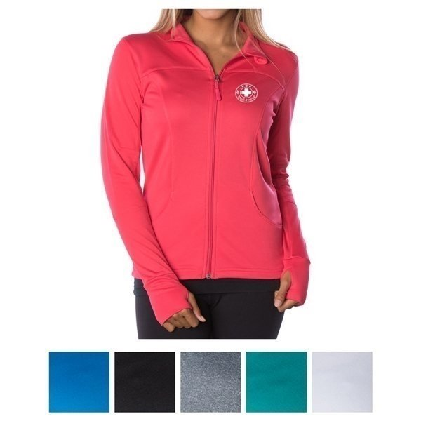 Promotional Independent Trading Company Juniors Lightweight Poly - Tech Zip