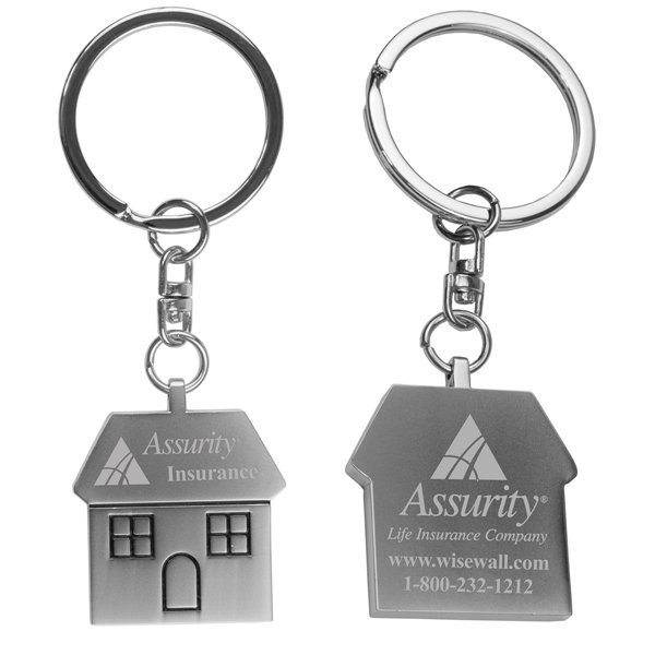 Promotional The Cottage Laser Engraved Metal Keyholder