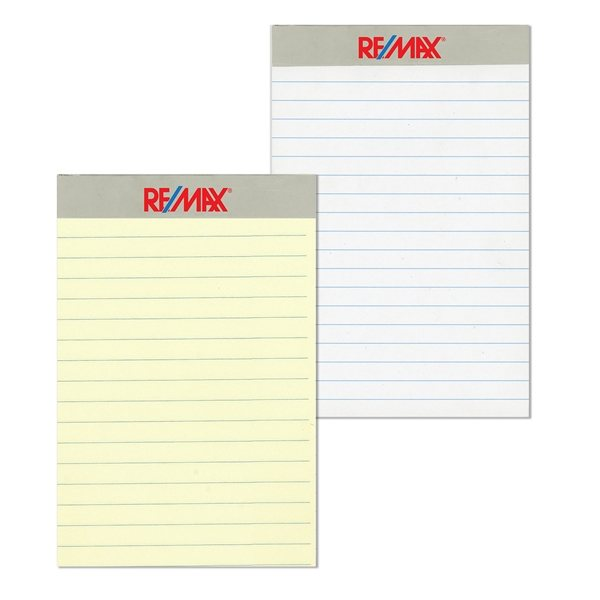 Promotional Junior writing pad with a 2 color imprint on the Tape