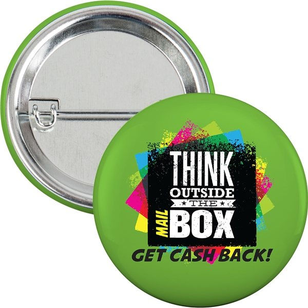 Promotional 2-1/4 Round Safety Pin Button