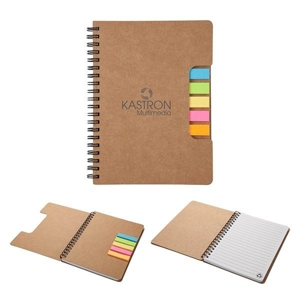 Promotional Montana Mini Journal with Sticky Flags