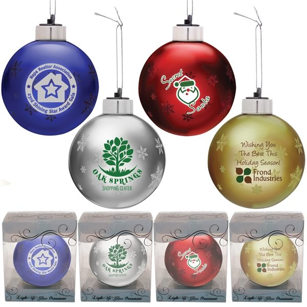 Promotional Light - Up Glass Ornament