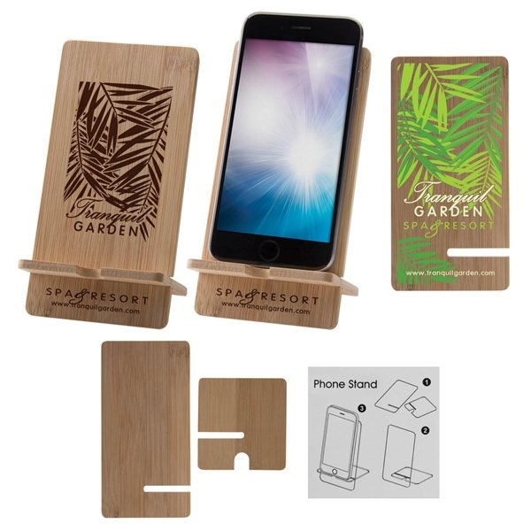 Promotional Bamboo Wood Cell Phone Stand