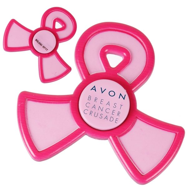Promotional Pink Ribbon Spinner