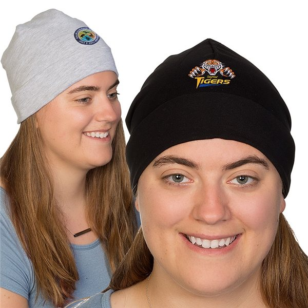 Promotional 83/11/6 Cotton / Polyester / Spandex Jersey Beanie