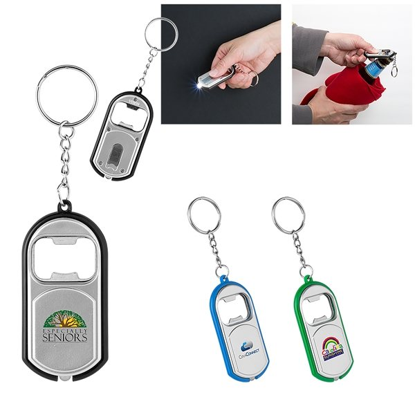 Promotional Big Beacon Light - Up Keychain