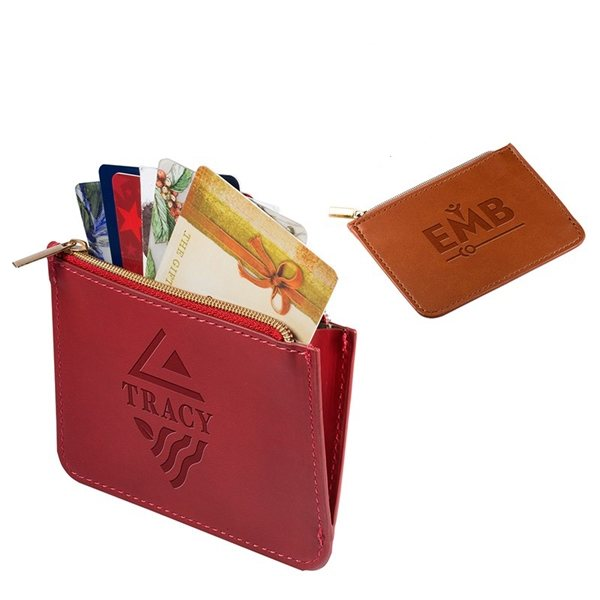 Promotional Tuscany(TM) RFID Zip Wallet Pouch