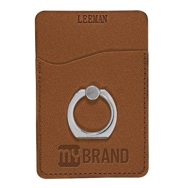 Promotional Tuscany(TM) Card Holder w / Metal Ring Phone Stand