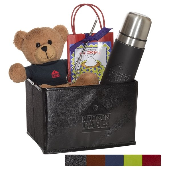 Promotional Tuscany(TM) Thermos, Bear and Hot Cocoa Set