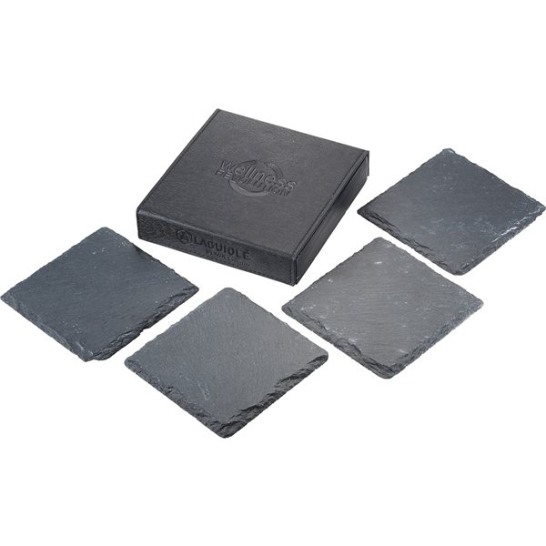 Promotional Laguiole Black Slate Coaster Set