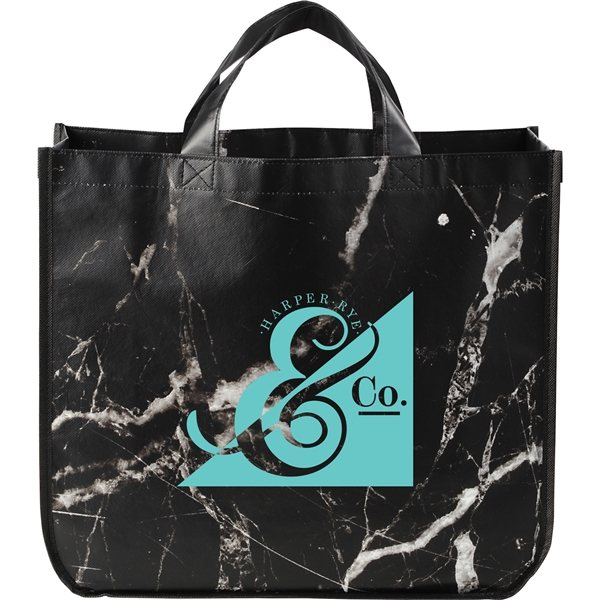 Promotional Marble Laminated Non - Woven Tote