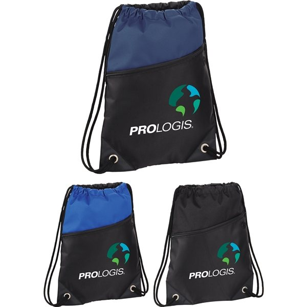 Promotional Deluxe Sport Drawstring Sportspack w / Earbud Port